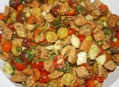 Olivia's Panzanella Salad with Butter & Garlic Croutons