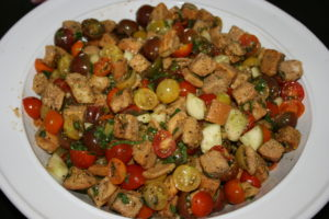 Panzanella Salad With Organic Garlic and Herb Croutons